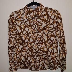 Equestrian button down shirt